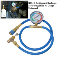 Car Auto Air Conditioning AC R134A Refrigerant Recharge Measuring Hose w/ Gauge