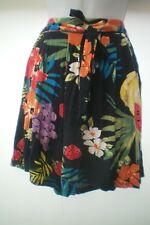 SIZE 10 FRUIT & FLOWER PRINT BAGGY SHORTS BY TU WORN ONCE ONLY VGC