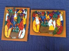 D. WILDOR HAITIAN ACRYLIC PAINTINGS ON CANVAS