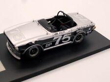 TRIUMPH TR6-Race Car-Paul Newman-escala 1/43 - Resina De Metal Blanco &