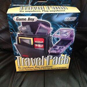 NUBY Original Gameboy Play & Carry Case, Battery Pack, Adaptor, Mag Light NIB