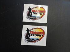 "TRACKER TROPHY FISHING TEAM DECAL PAIR (2) 3-3/4"" X 2-3/4"" TR14292 MARINE BOAT"