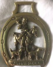 Genuine Vintage Horse Brass John Peel Cast Brass Stamped Reg No 876559 Preowned