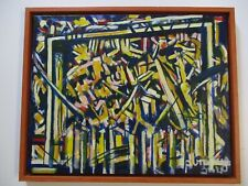 VINTAGE CONTEMPORARY PAINTING ABSTRACT EXPRESSIONISM MODERNISM CUBISM CUBISM