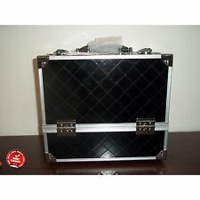 Makeup Artist Train Case Beauty Cosmetic Large Cases For Professional Black NEW