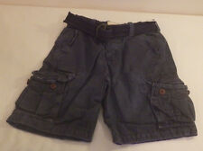 Hollister Mens Cargo Navy Blue with Belt Shorts Guy Size 28 New Nwt