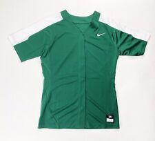 Nike Pro Vapor Softball Practice Jersey Full Button Women's Medium Green 881248