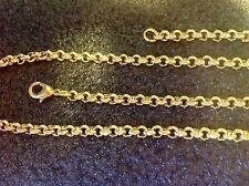 Erbskette 4mm breit  vergoldet 45cm bis100cm nach Wahl Ankerkette Erbsarmband