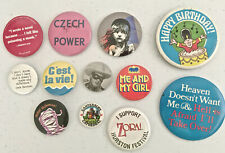 Mix Lot - 12 Pinbacks, Button Pins - Lone Ranger, and Misc. - Lot W108