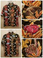 Aquarium of the Pacific Fish Sea Animals HAWAIIAN Shirt Approx. Sz Small Turtles