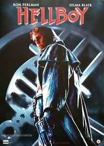 HELLBOY Original 2004 POSTER UK video store release Ron Perlman Doug Jones
