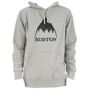 BURTON Mens 2018 - Classic Mountain Pullover Hoodie - Gray Heather