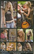 x2 2006 Taylor Swift Early Ad Promo Photo Print 1st Album Tim McGraw Country
