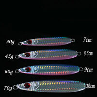 4*Mixed Color Micro Jigs Butterfly Knife Slow Jigs Saltwater Fishing Lures 3Size