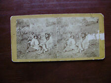 CHIPPEWA WEDDING - Early Stereoview - Upton - 1870's