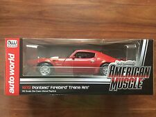 AUTO WORLD 1/18 DIE CAST 1972 RED PONTIAC FIREBIRD TRANS AM LTD EDT # AMM998 F/S