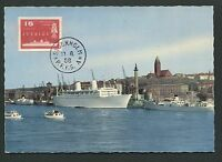 SCHWEDEN MK 1958 SCHIFFE SHIPS MAXIMUMKARTE CARTE MAXIMUM CARD MC CM d6426