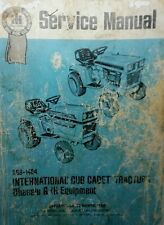 IH International Cadet GSS-1464 1st ed.  Service Manual Chassis & Implement 128p