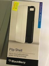 BlackBerry Z10 Flip Shell in Black/White ACC-49284-202 NFC Friendly and Original