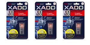 XADO EX120 Revitalizant for Gasoline Petrol LPG engine 9 ml 3 pieces