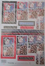 Buzzcraft  MALE EXPRESSIONS - Darts & Cards - Pyramage Die Cut Decoupage No. 307