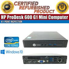 HP ProDesk 600 G1 Mini Intel i5 8GB RAM 500GB HDD Win 10 USB VGA B Grade Desktop