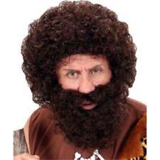 Parrucche e barbe neri in poliestere per carnevale e teatro, tema natale