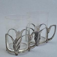 WMF 2er Set Teegläser/TEEGLAS Support, art nouveau/Art Deco, argenté