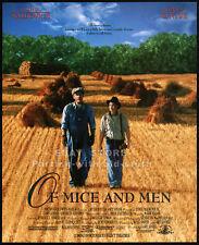 OF MICE AND MEN__Original 1992 print AD movie promo__JOHN MALKOVICH__GARY SINISE