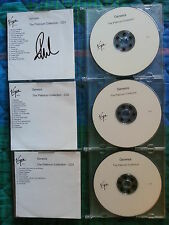 "GENESIS PROMO ACETATE COMPLETE SET 3 CD ""PLATINUM COLLECTION"" SIGNED VIRGIN"
