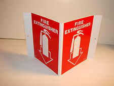 15 Fire Extinguisher Signs 3D with Double side tape strips