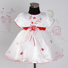 NUEVO Fiesta De Bautizo Vestido Para Niña Flores en fucsia, blanco, lila, Rojo