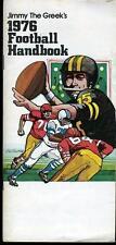 1976 JIM THE GREEK FOOTBALL HANDBOOK