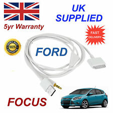 For FORD FOCUS 1529487 iPhone 3GS 4 4S iPhone iPod USB & 3.5mm Aux Cable White
