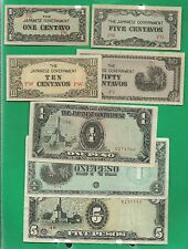 1942 - 1945 SET OF JAPANESE INVASION MONEY IN THE PHILIPPINES, 13 NOTES IN ALBUM