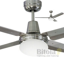 """NEW MERCATOR SWIFT 316 CEILING FAN WITH LIGHT MARINE STAINLESS STEEL 1200mm 48"""""""