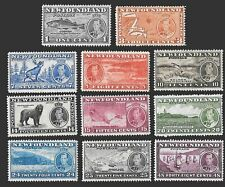 Newfoundland SC 233-243 * King George VI with Nature Scenes * MNH * 1937