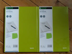 2 x A4 Green/Lime Leitz WOW Notebook Ruled Hardcover