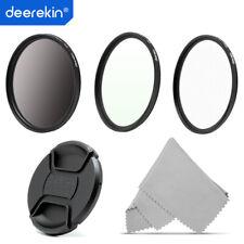 Deerekin 72mm Lens Filter Kit: Polarizer CPL + UV + Cross Screen Star 6x