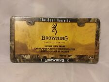 Browning Signature Automotive Camouflage License Plate Frame - stocking stuffer