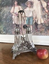 ANTIQUE MIDDLETOWN PLATE CO ORNATE Salt & Pepper CADDY Holder Stand