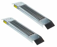 PAIR 500LB LOADING RAMPS RAMP STEEL EASY ACCESS MOWER BACK STEPS SCOOTER 450KILO