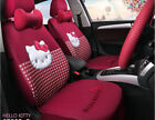 1 Set Luxury Hello Kitty Cute Universal Cartoon Car Seat Covers Cotton Rose Red