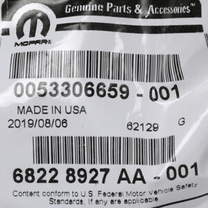 OEM NEW 2014-21 Mopar Jeep Grand Cherokee Limited License Plate Lamp 68228927AA