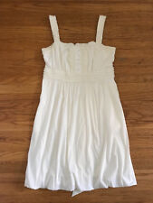 New BCBG Max Azria Cream ruffled Skater dress sz M