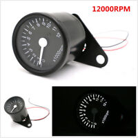 65mm Universal Motorcycle 12000RPM LED Tachometer Speedometer Gauge With Bracket