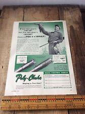 Vintage Poly Choke Gun  Paper Advertising, Johnson Car Plate