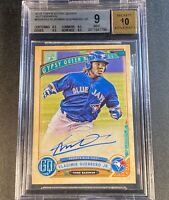 VLADIMIR GUERRERO JR 2019 TOPPS GYPSY QUEEN AUTO ROOKIE RC BGS 9 10 W/3 9.5 SUBS