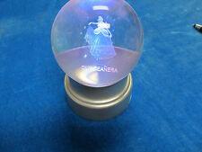 Quinceaner Fantastic Crystal Ball for Decoration + LED light Display Base