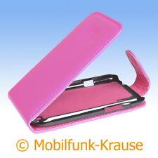 Flip Case Etui Handytasche Tasche Hülle f. HTC Desire X (Pink)